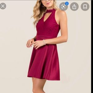 Bria Gigi Lace Combo Dress from Francesca's
